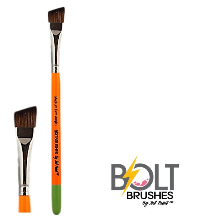 "BOLT Face Painting Brushes by Jest Paint - Medium FIRM Angle (5/8"")"