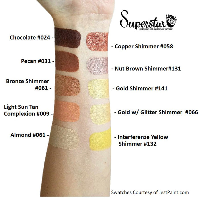 Superstar Face Paint  Swatches