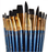 Face Painting Brush Set of 12 by Royal Majestic (RSET-9302) - Jest Paint Store