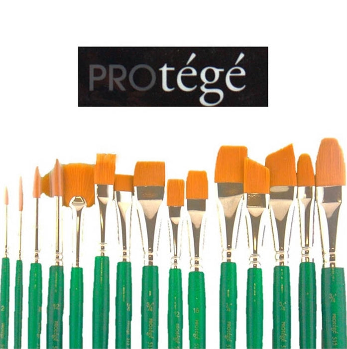 Protege 15 Piece Face Painting Brush Set - Gold Nylon Brushes (515VP) - Jest Paint Store