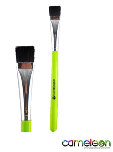 "Cameleon Face Painting Brush - FLAT 1/2""  (short green handle) - Jest Paint Store"