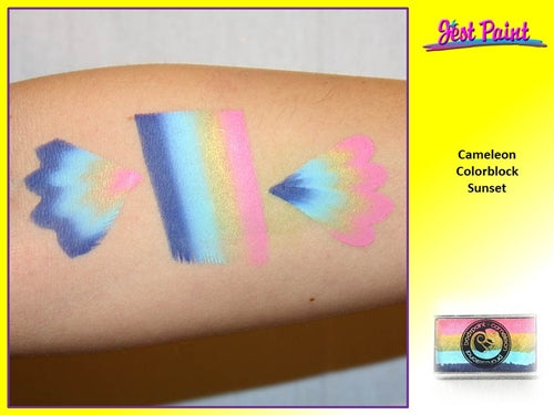 Cameleon Face Paint ColorBlock - Sunset 30gr - Jest Paint Store - Swatch