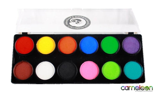 Cameleon Face Paint - Large 12 Color Baseline Palette - Jest Paint Store