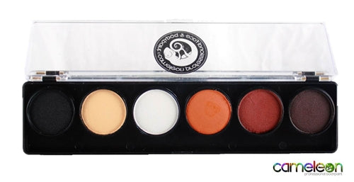 Cameleon Face Paint -  6 Color Dermaniac Palette - Jest Paint Store