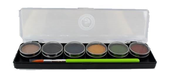 Cameleon Face Paint - 6 Color Small Scare Me Palette - DISCONTINUED - Jest Paint Store
