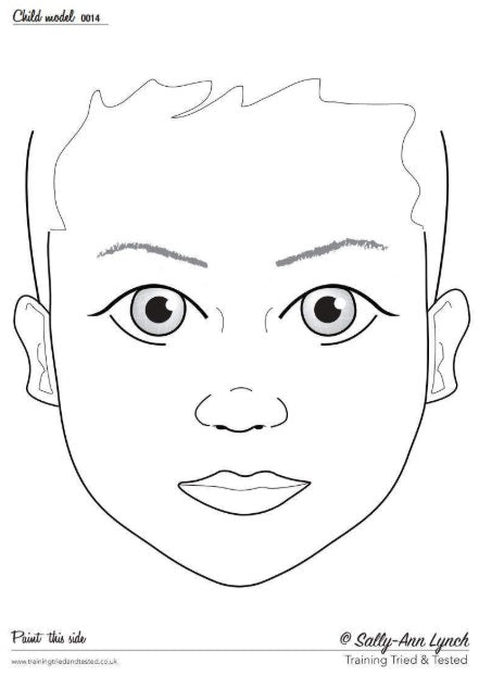 Training Tried & Tested Face Painting Practice Board - CHILD 0014 (Transparent)