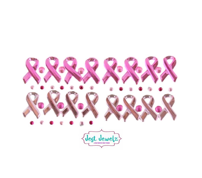 Jest Jewelz - Breast Cancer Awareness Gems (Peel and Stick - Approx 49 pc.) - Jest Paint Store