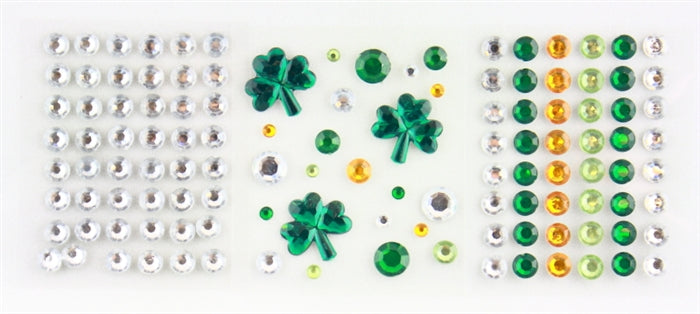 Jest Jewelz - St. Patrick's Day Gems (Peel and Stick -Approx 119 Pcs.) - Jest Paint Store