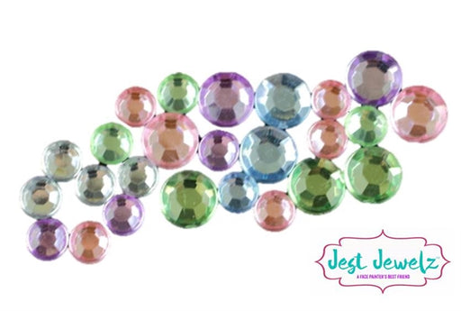 Jest Jewelz - Round Gems - Pastel (Approx. 82 Pieces) - Jest Paint Store