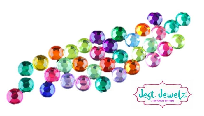 Jest Jewelz - 5mm Round Gems - Multicolored (Approx. 180 Pieces) - Jest Paint Store