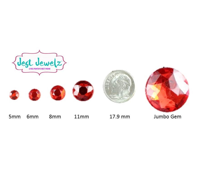 Jest Jewelz - Round Gems - Assorted Colors & Sizes (Approx 195 Pieces) - Jest Paint Store