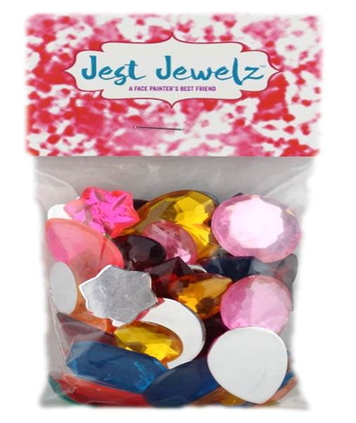 Jest Jewelz - Assorted Jumbo Gems (1/2 Cup - Approx. 55 Pieces) - Jest Paint Store