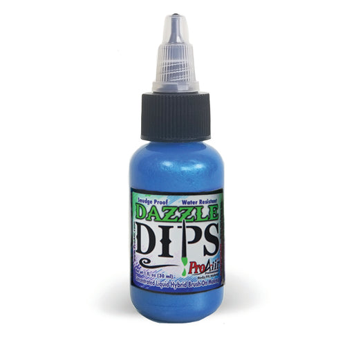 DAZZLE DIPS Water Proof Face Paint - Blue Dazzle - 1fl oz - Jest Paint Store