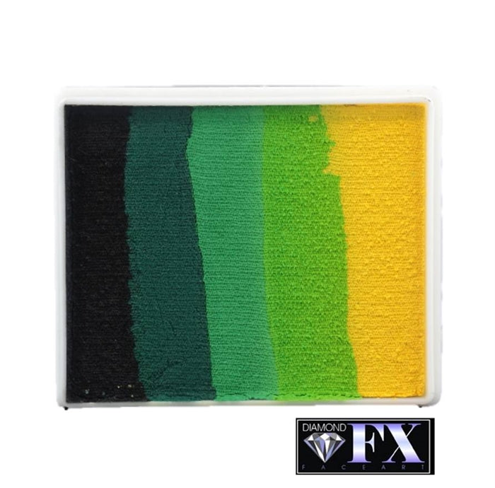 DFX Face Paint Rainbow Cake  - Large Green Carpet (RS50-8)  50gr #8 - Jest Paint Store
