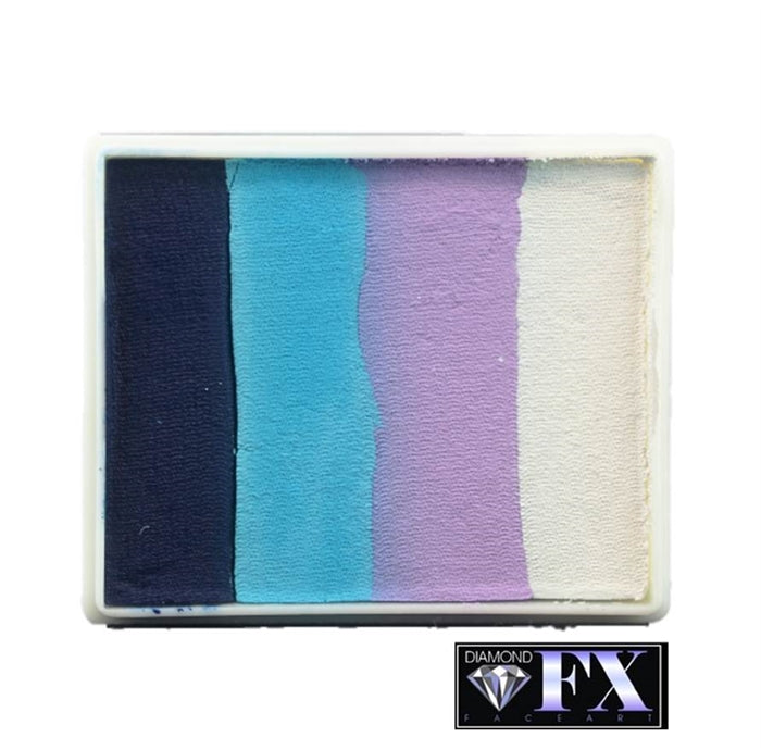 DFX Face Paint Rainbow Cake - Large Monsoon (RS50-1) 50gr #1 - Jest Paint Store