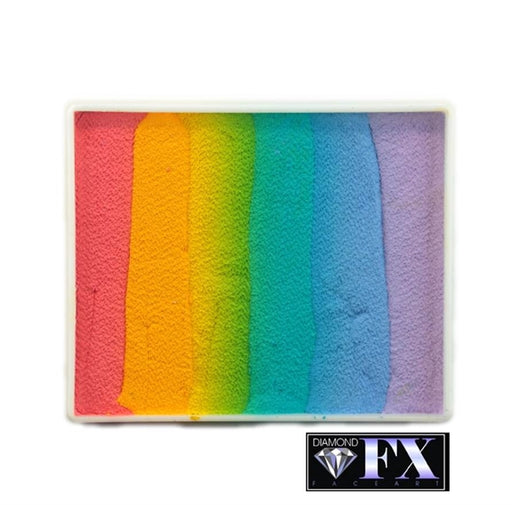 DFX Face Paint Rainbow Cake - Large Blurred Lines (RS50-4) 50gr #4 - Jest Paint Store