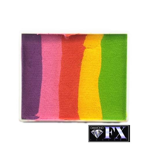 DFX Face Paint Rainbow Cake - Large Raving Rainbow (RS50-90) 50gr #12 - Jest Paint Store