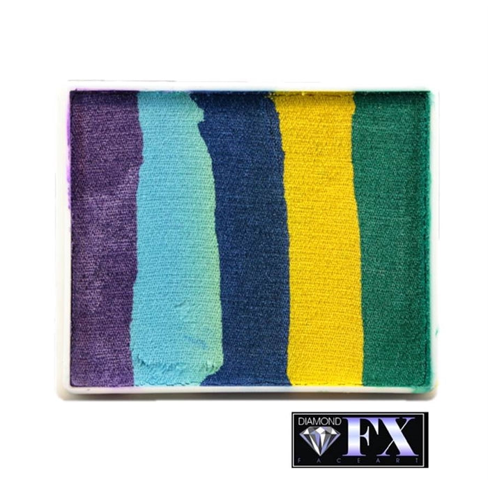 DFX Face Paint Rainbow Cake - Large Traffic Jam (Peacock Cake) (RS50-99) #21 - DISCONTINUED - Jest Paint Store