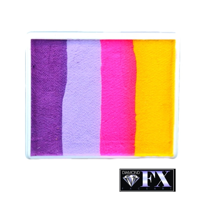 DFX Face Paint Rainbow Cake - Large Flower Heather (RS50-86) #23 - Jest Paint Store