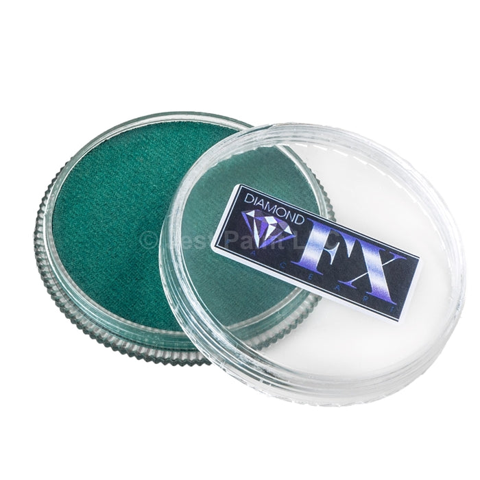 Diamond FX Face Paint- Metallic Green 30gr - Jest Paint Store