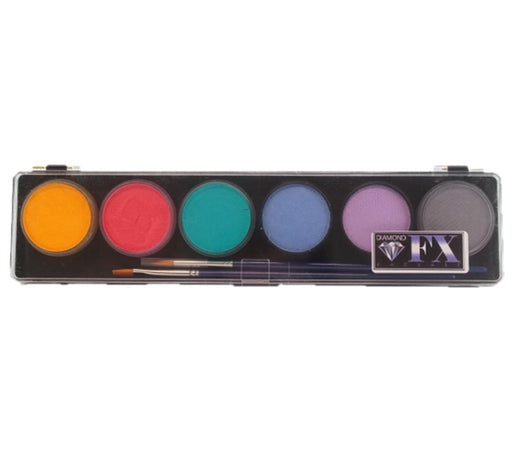 Diamond FX Face Paint  - 6 Color Pastel Palette - Jest Paint Store