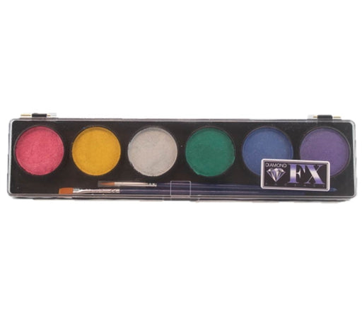 Diamond FX Face Paint - 6 Color Metallic  Palette - Jest Paint Store
