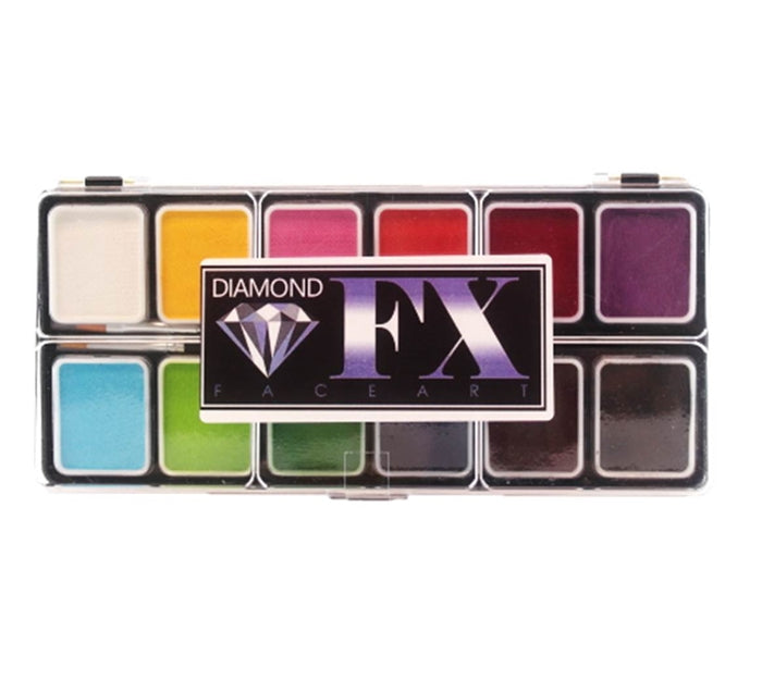 Diamond FX Face Paint -  Small 12 Color Essential  Palette - Jest Paint Store