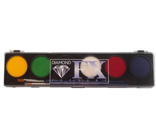 Diamond FX Face Paint - 6 Color Essential  Palette - Jest Paint Store