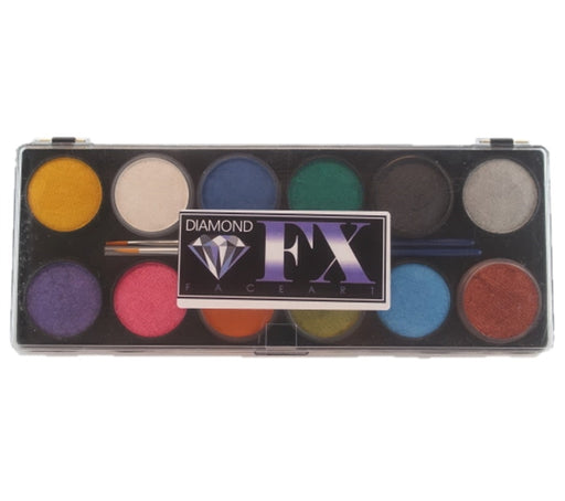 Diamond FX Face Paint - Large 12 Color Metallic Palette - Jest Paint Store