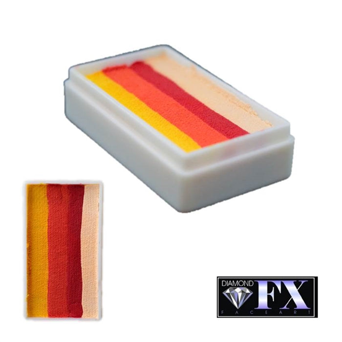 DFX Face Paint Rainbow Cake - Small Lobster Luau (RS30-2) 30gr #2 - Jest Paint Store