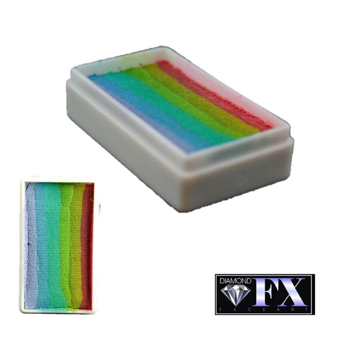 DFX Face Paint Rainbow Cake -Small Blurred Lines (RS30-4) 30gr #4 - Jest Paint Store