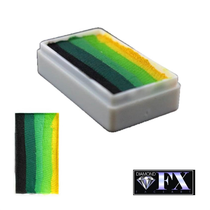DFX Face Paint Rainbow Cake - Small Green Carpet (RS30-8) 30gr #8 - Jest Paint Store