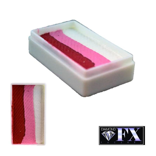 DFX Face Paint Rainbow Cake - Small Strawberry Delight 28gr (RS30-23) #23 - Jest Paint Store