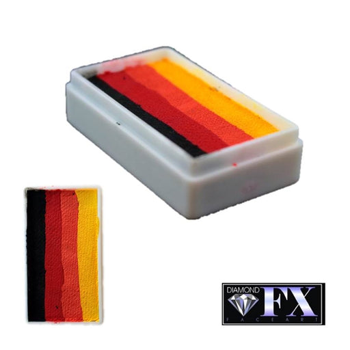 DFX Face Paint Rainbow Cake - Small Inferno (RS30-13) 30gr #13 - Jest Paint Store