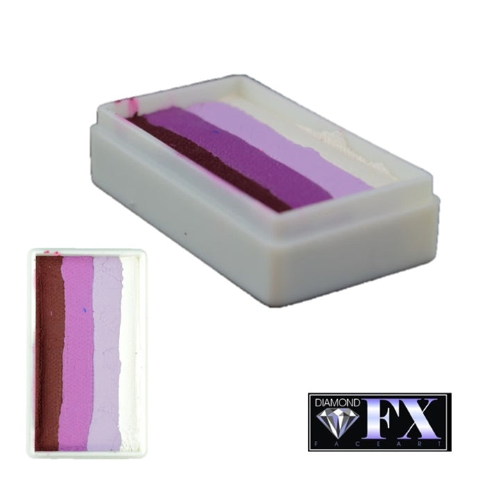 DFX Face Paint Rainbow Cake - Purple Rose (RS30-61) 30gr #28 - Jest Paint Store
