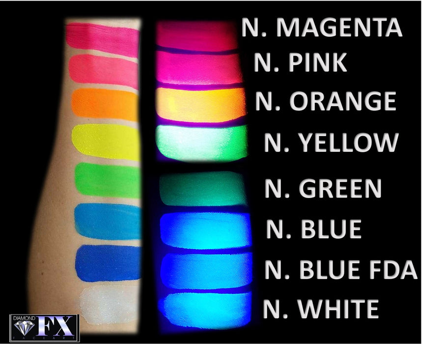 Diamond FX Face Paint - Neon White FDA Compliant (Clear) 30gr - Jest Paint Store