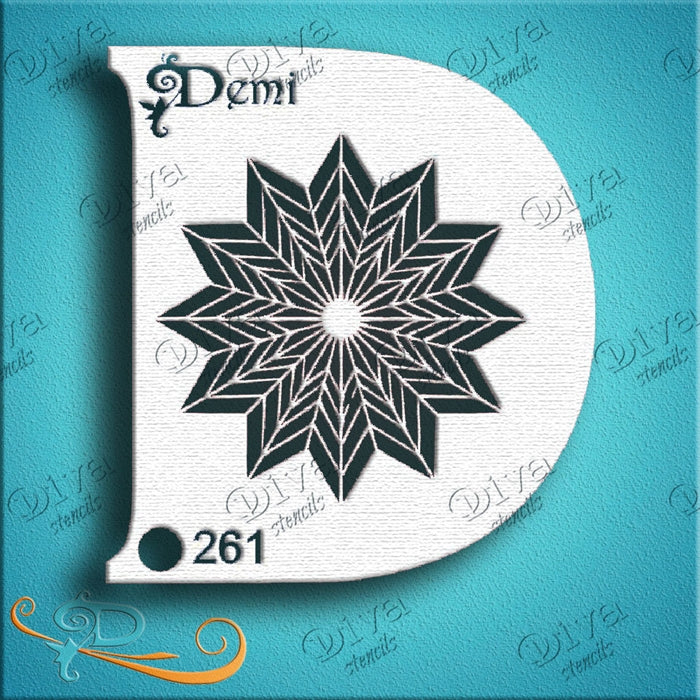 Diva Stencils | Face Painting Stencil | Demi Multi Star (00261) - DISCONTINUED - Jest Paint Store