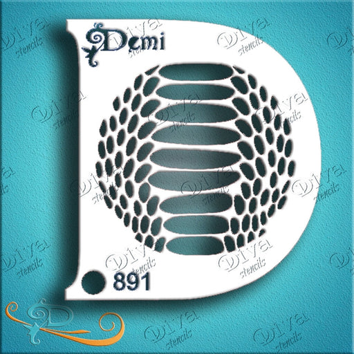 Diva Stencils | Face Painting Stencil | Demi Snake Skin (008891) - Jest Paint Store
