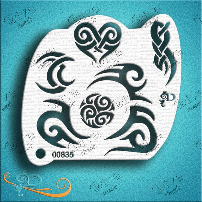 Diva Stencils | Face Painting Stencil | Diva Couture | Tribal Eyes (00835) - Jest Paint Store