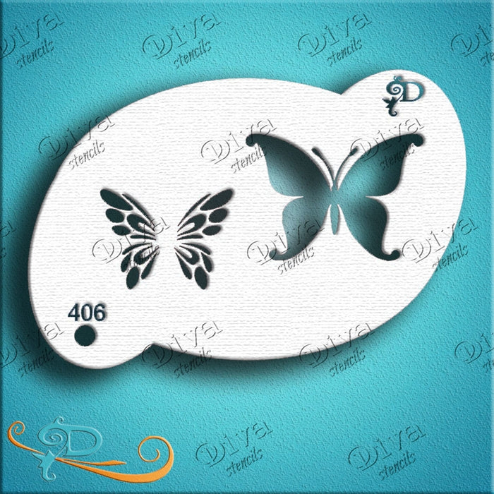 Diva Stencils | Face Painting Stencil | Two-Step Butterfly (00406) - Jest Paint Store