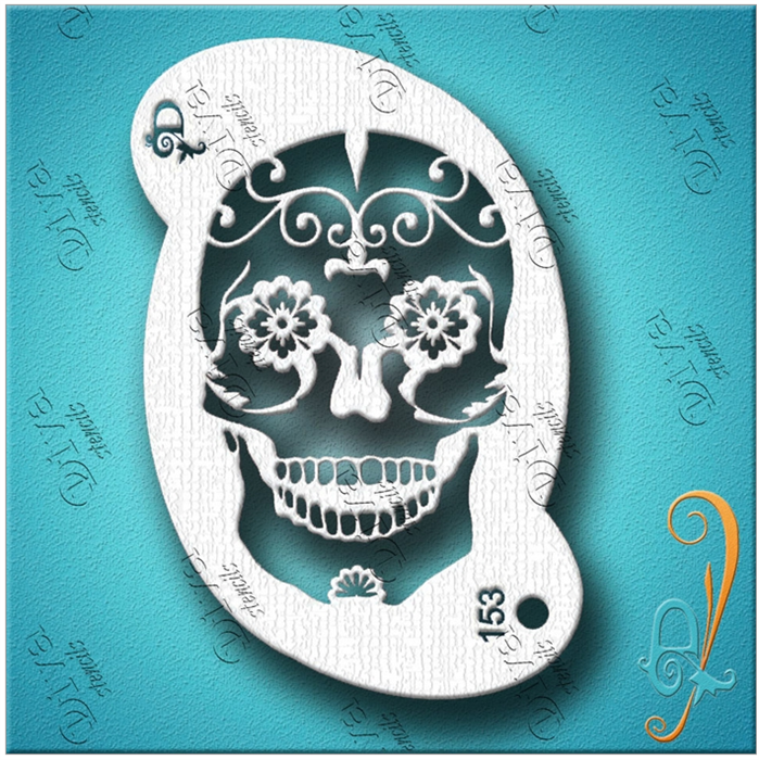 Diva Stencils | Face Painting Stencil | Sugar Skull (00153) - Jest Paint Store