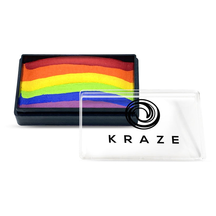 Kraze FX Face and Body Paints | Domed 1 Stroke Cake - Deep Rainbow 25gr
