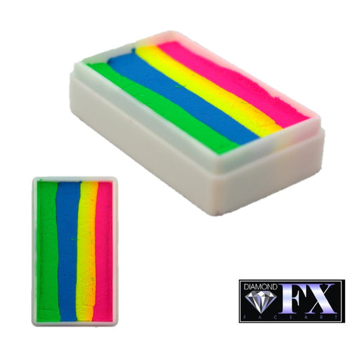 DFX Face Paint Rainbow Cake - Neon Rainbow (RS30-68) 28gr #35