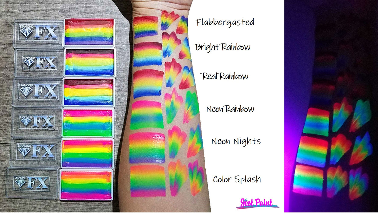 DFX Special Effects Paint Rainbow Cake - Small Bright Rainbow (RS30-59) 28gr #6 - Jest Paint Store
