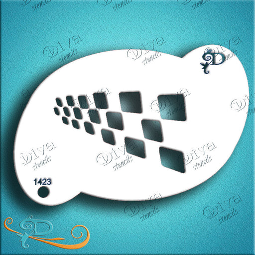 Diva Stencils | Face Painting Stencil | Checker Spray (1423) - Jest Paint Store