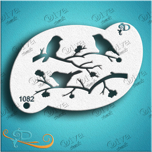 Diva Stencils | Face Painting Stencil | 3 Little Birds (1082) - Jest Paint Store