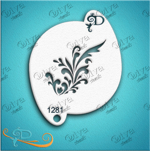 Diva Stencils | Face Painting Stencil | Small Blooming Vine (001281) - Jest Paint Store