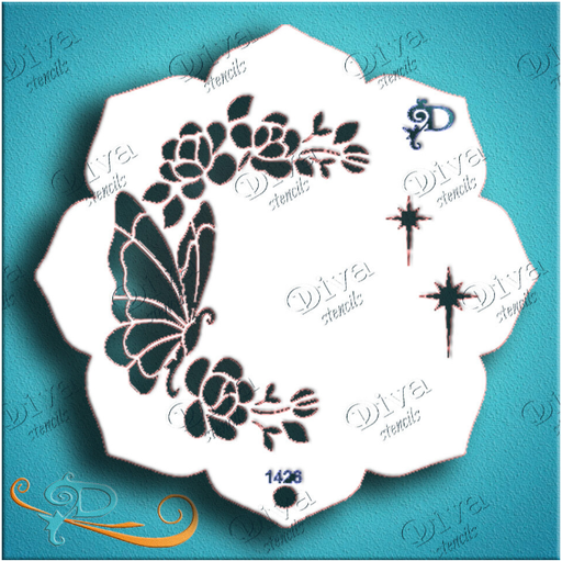 Diva Stencils | Face Painting Stencil | Eye Candy - Butterfly Garden (1426)