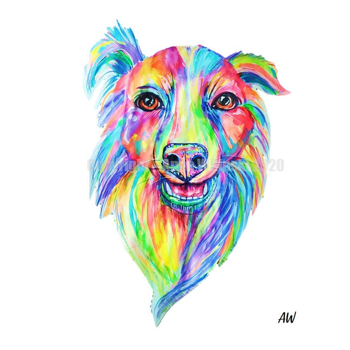 Technicolor Pet Portraits - Custom Watercolor Art by Anna Wilinski (High Res Digital File)