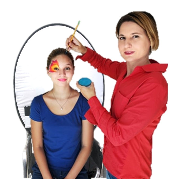 Face Painting Pop Up Foldable Chair Backdrop - Double Sided